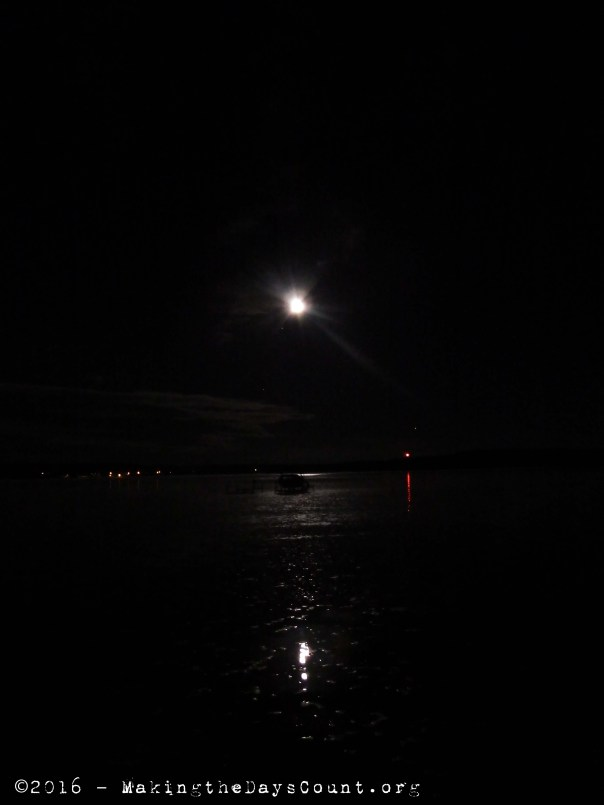 the lake and the moon, late friday night, early Saturday morning