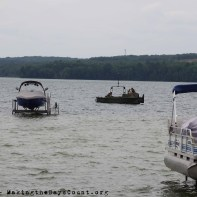 the middle boat is a rare sight on the lake, Ivy is in the bottom left