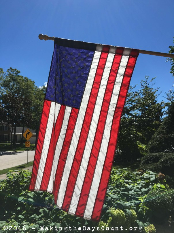 our flag flies at half-mast today,