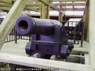 one of the 13 cannon that made the cairo a formidable ship