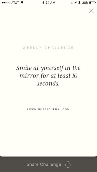 this week's challenge...