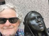 July 2017 - outside the North Carolina Museum of History - we're both smiling....
