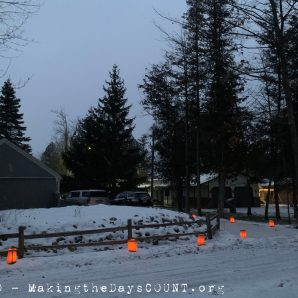 the street view, Luminaria are a tradition in our neighborhood at home, we introduced them to the lake