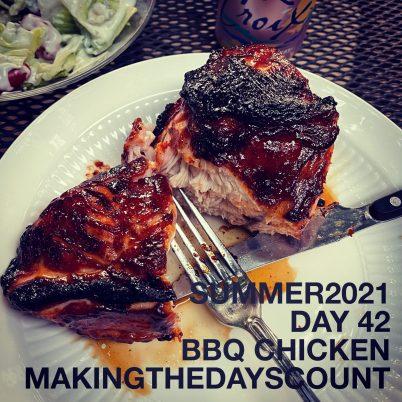 BBQ chicken and last night's dinner