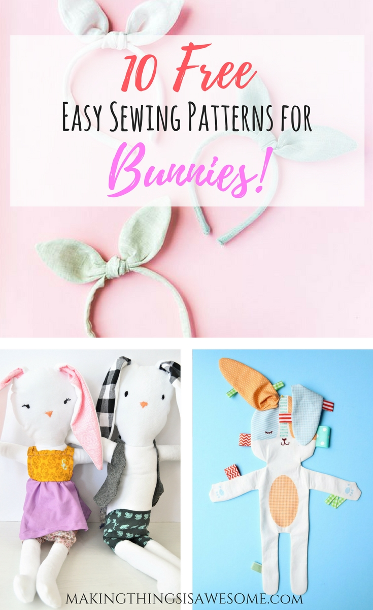 10 free easy sewing patterns for bunnies round up making 10 free easy sewing patterns for bunnies round up pin jeuxipadfo Gallery