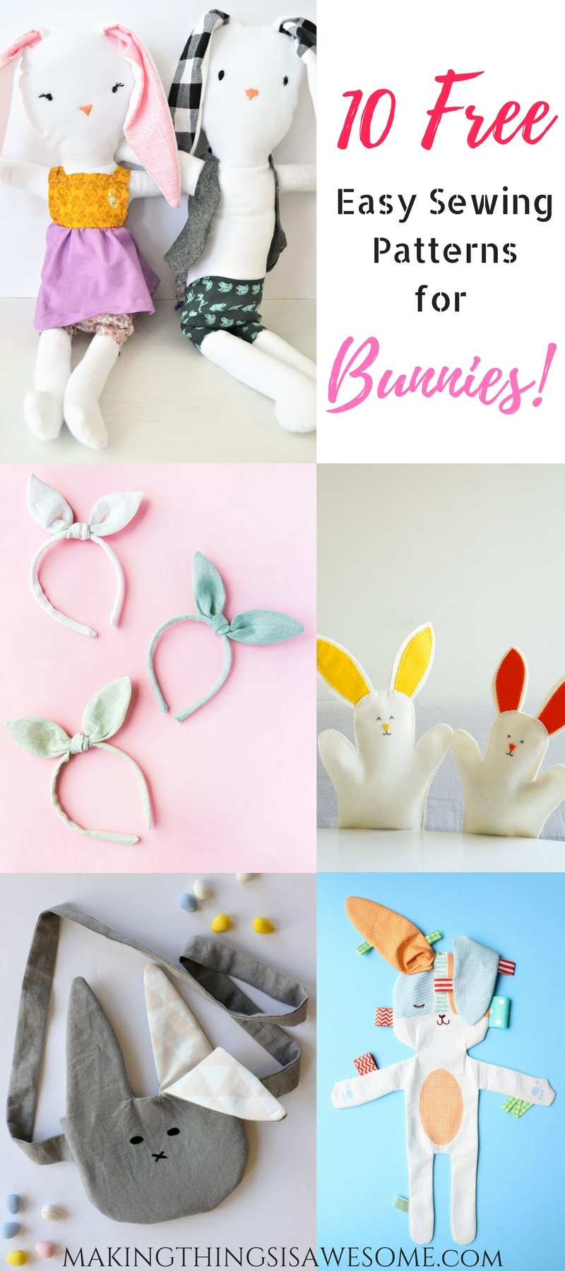 10 free easy sewing patterns for bunnies round up making 10 free easy sewing patterns for bunnies round up jeuxipadfo Images