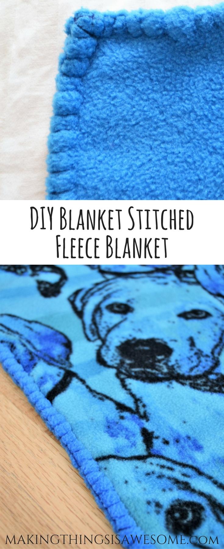 Hand Sewn Fleece Toddler Blanket Tutorial! - The Blanket Stitch! - pin