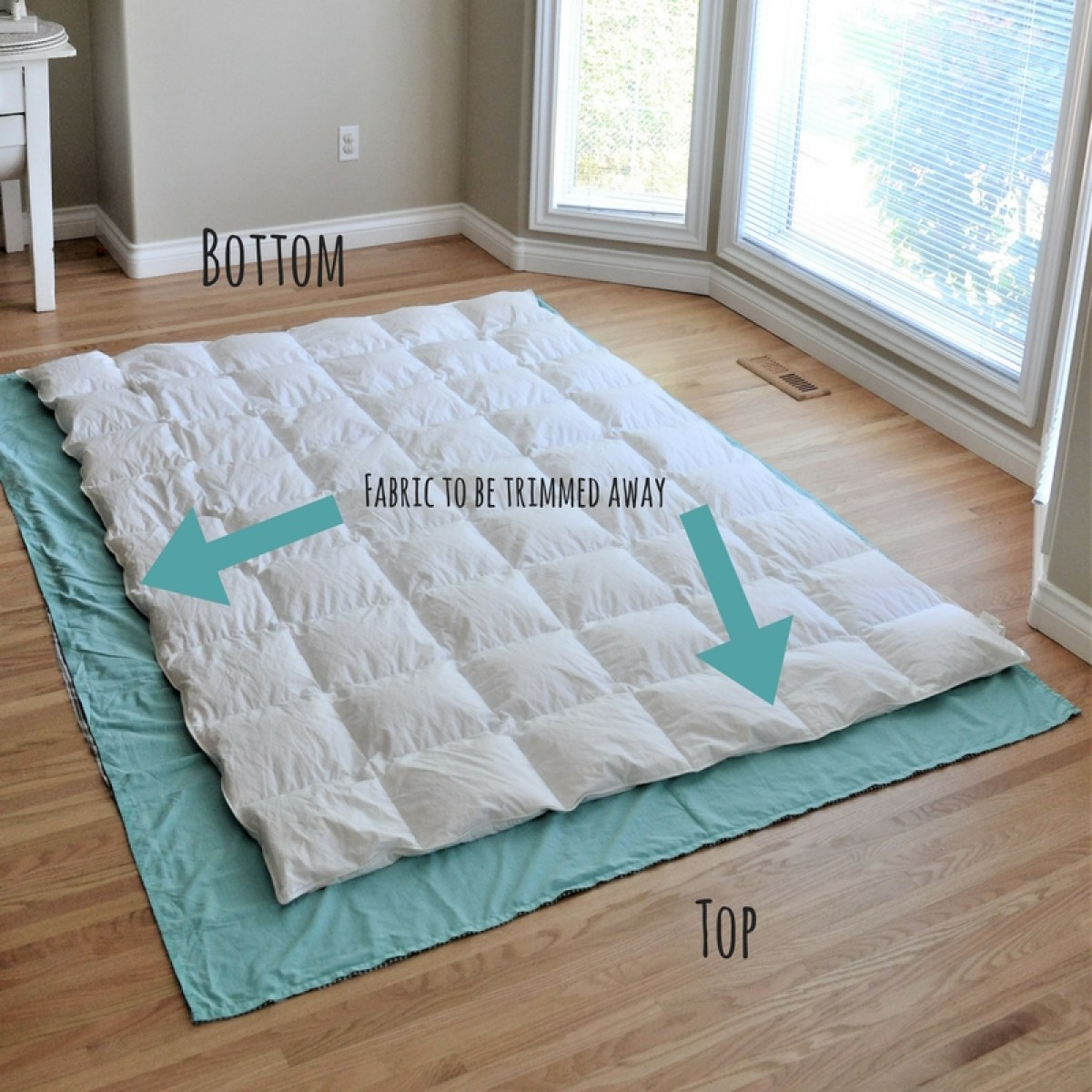 Diy Duvet Cover From Flat Sheets Tutorial Making