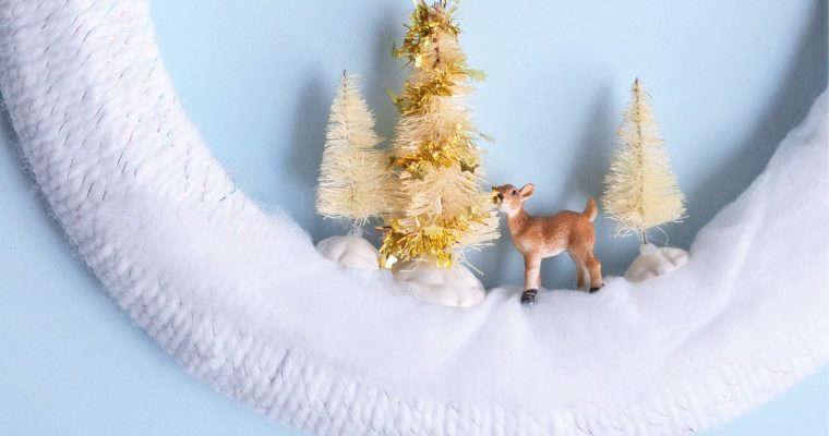 Easy Christmas DIY Wreath: Cute For the Kids Bedroom Door!