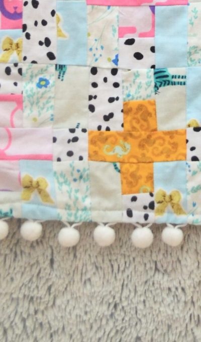 How to Add Pompom Trim to a Quilt – Baby Doll Quilt Tutorial!