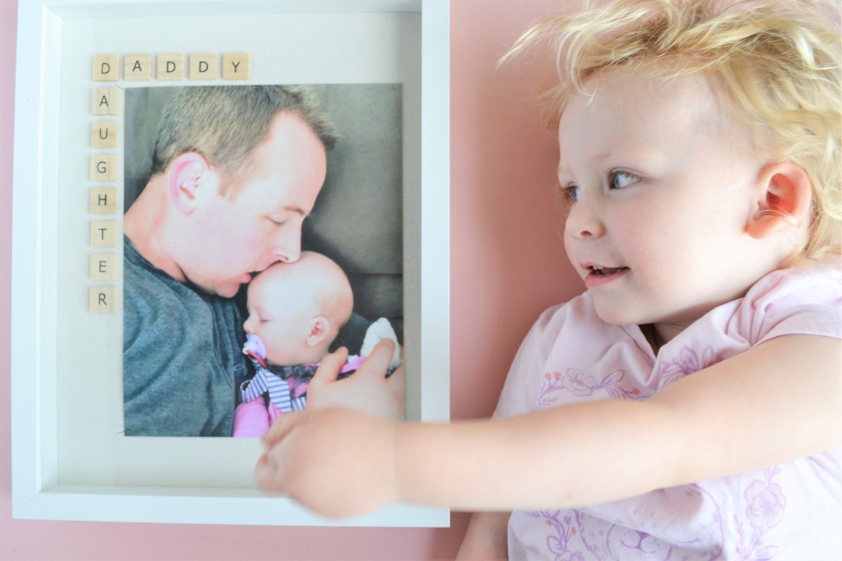 Father S Day Photo Frame Gift Idea The Daddy Daughter Frame Making Things Is Awesome
