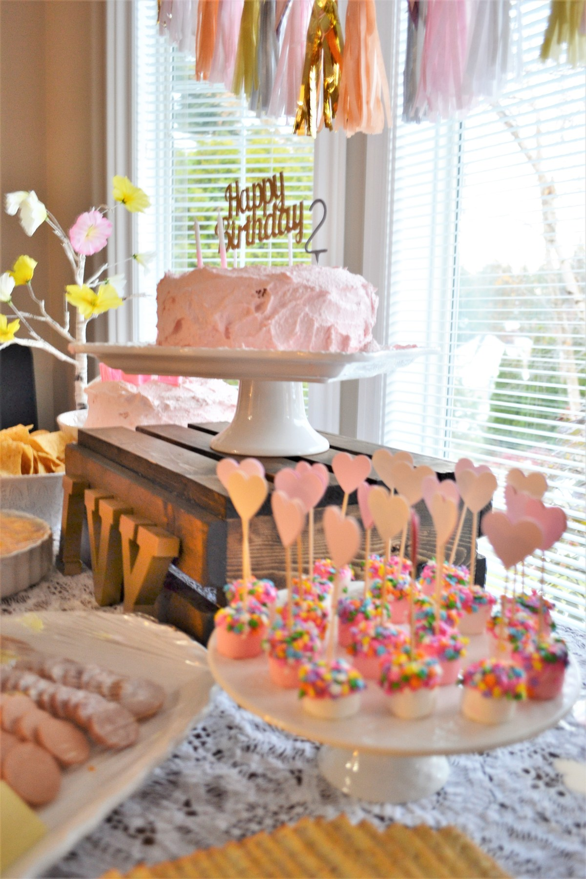 Baby Doll Party Theme - food table