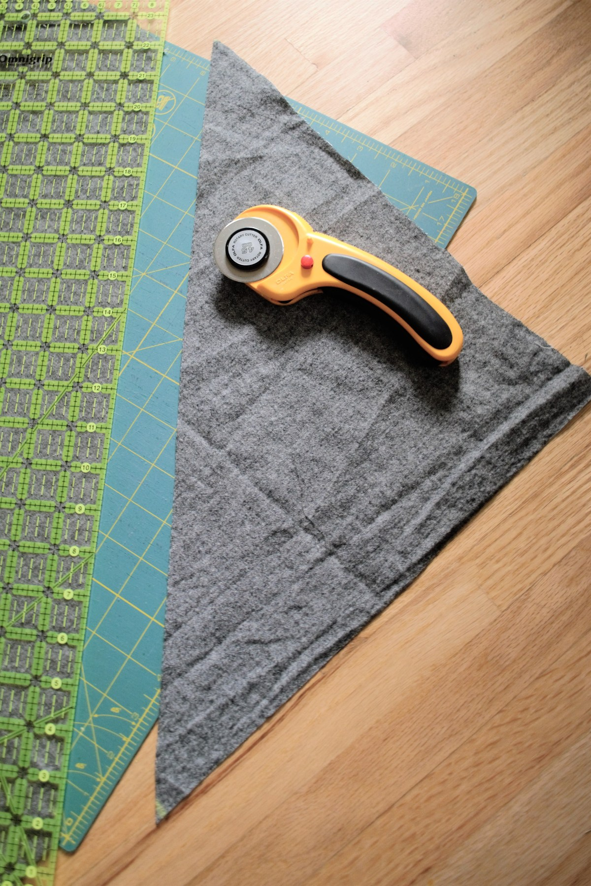 How to Make a Reversible Hooded Baby Blanket - cut out 2nd hood