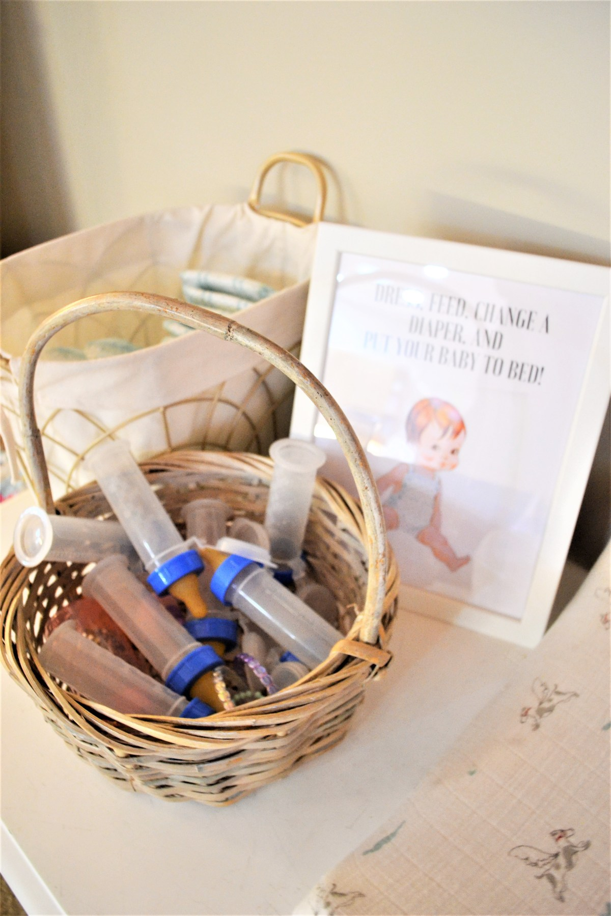 Baby Doll Party Theme - baby care station