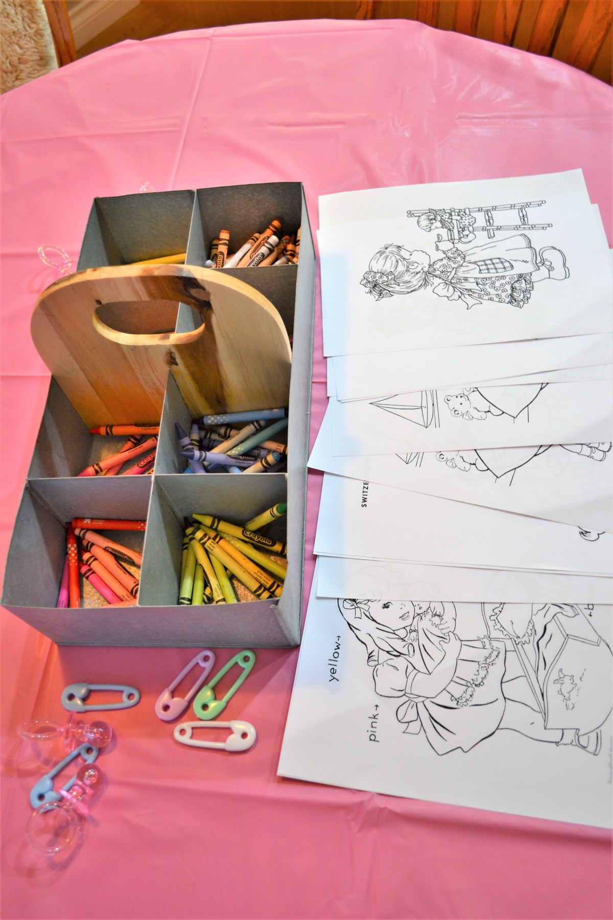 Baby Doll Party Theme - baby doll colouring pages