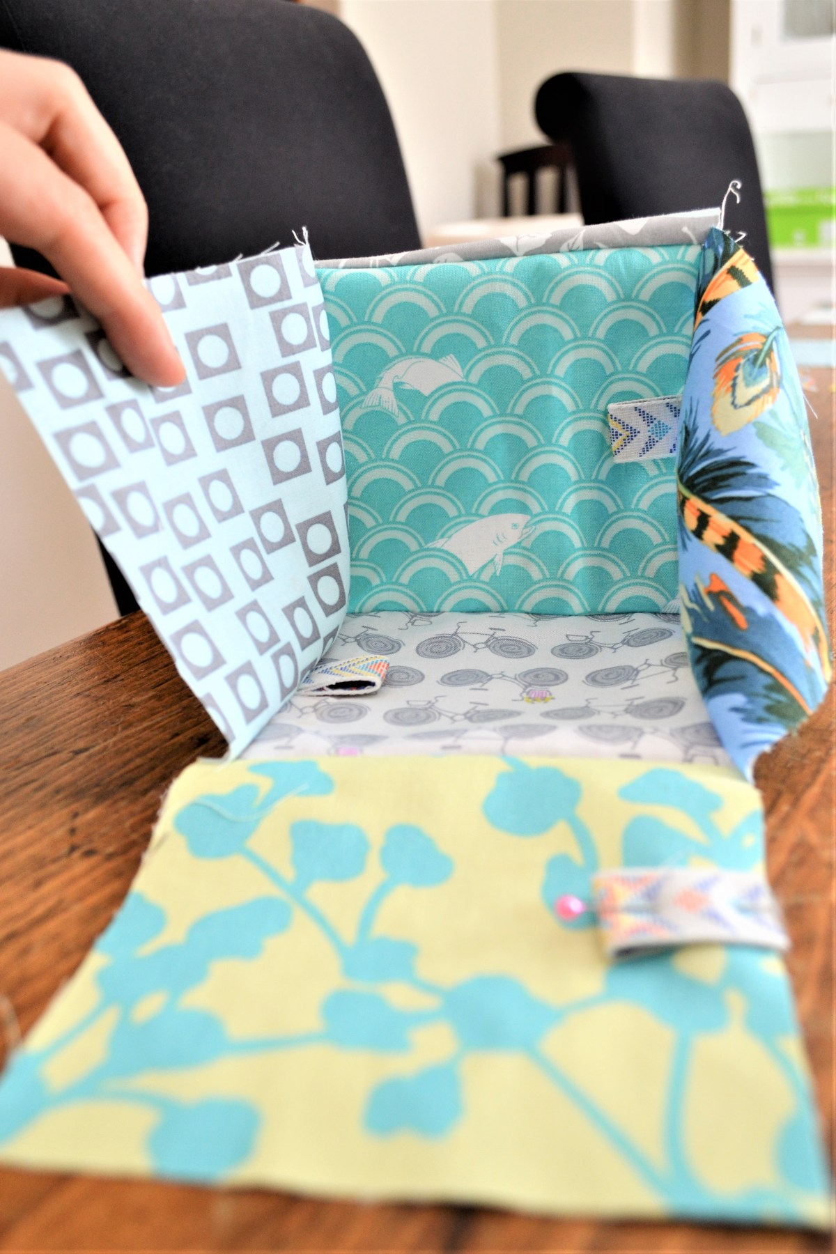How to Sew Baby Blocks With Taggies! - sewing squares together