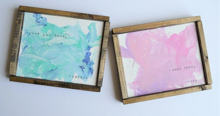 Canvas Painting Ideas for Kids: With Easy DIY Canvas Frames!