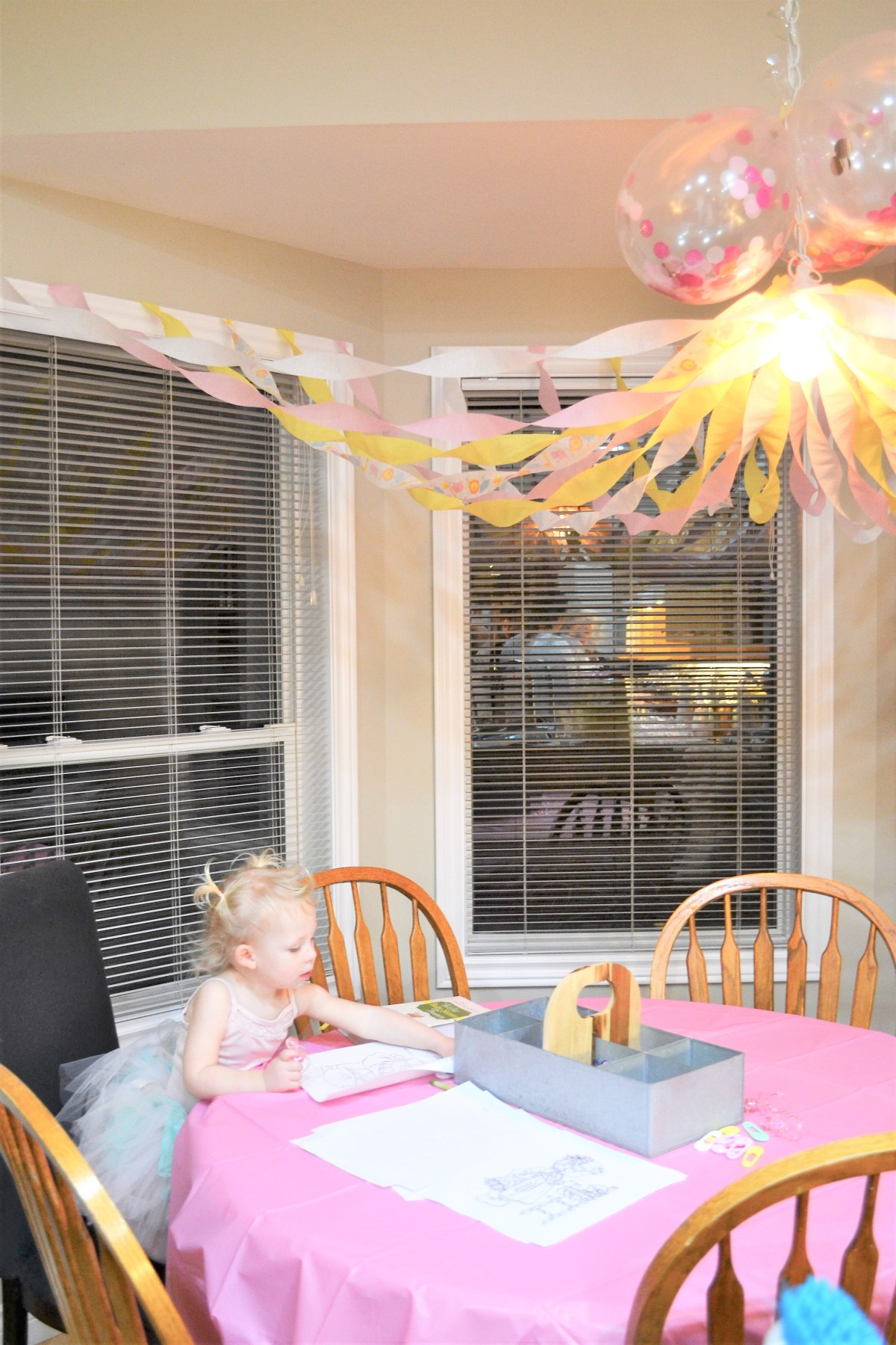 Baby Doll Party Theme - craft table