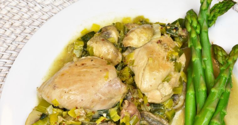 Healthy Mushroom, Leek, and Chicken Thigh Recipe! – Weight Loss Friendly!