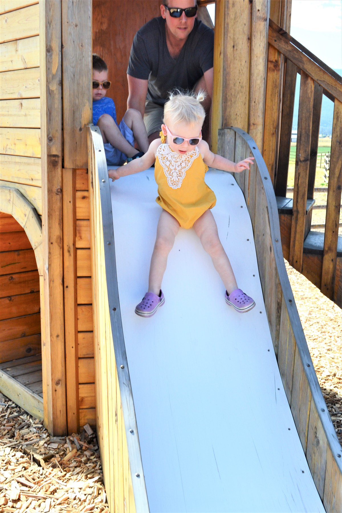 The Log Barn Adventure - slide