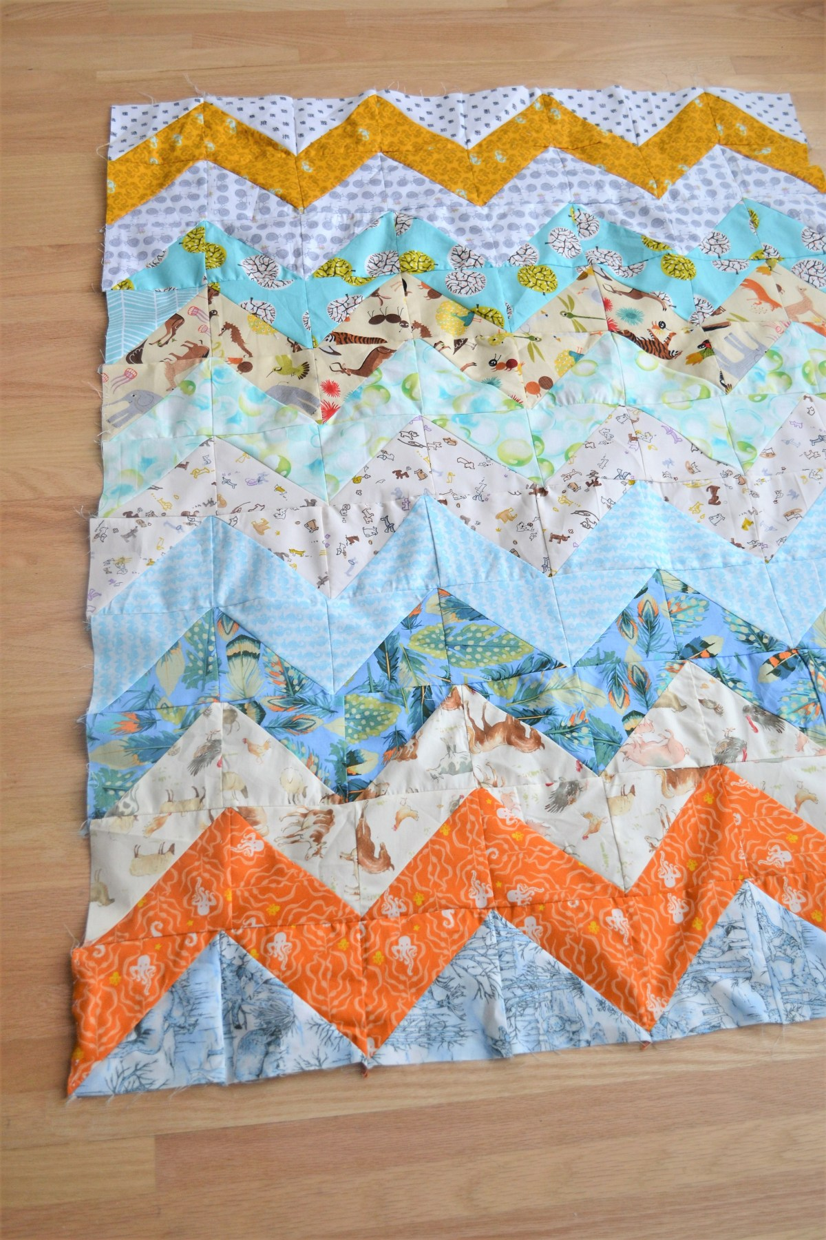 Chevron Quilt Pattern - Quilt Patterns for Beginners! - compleated chevron baby quilt