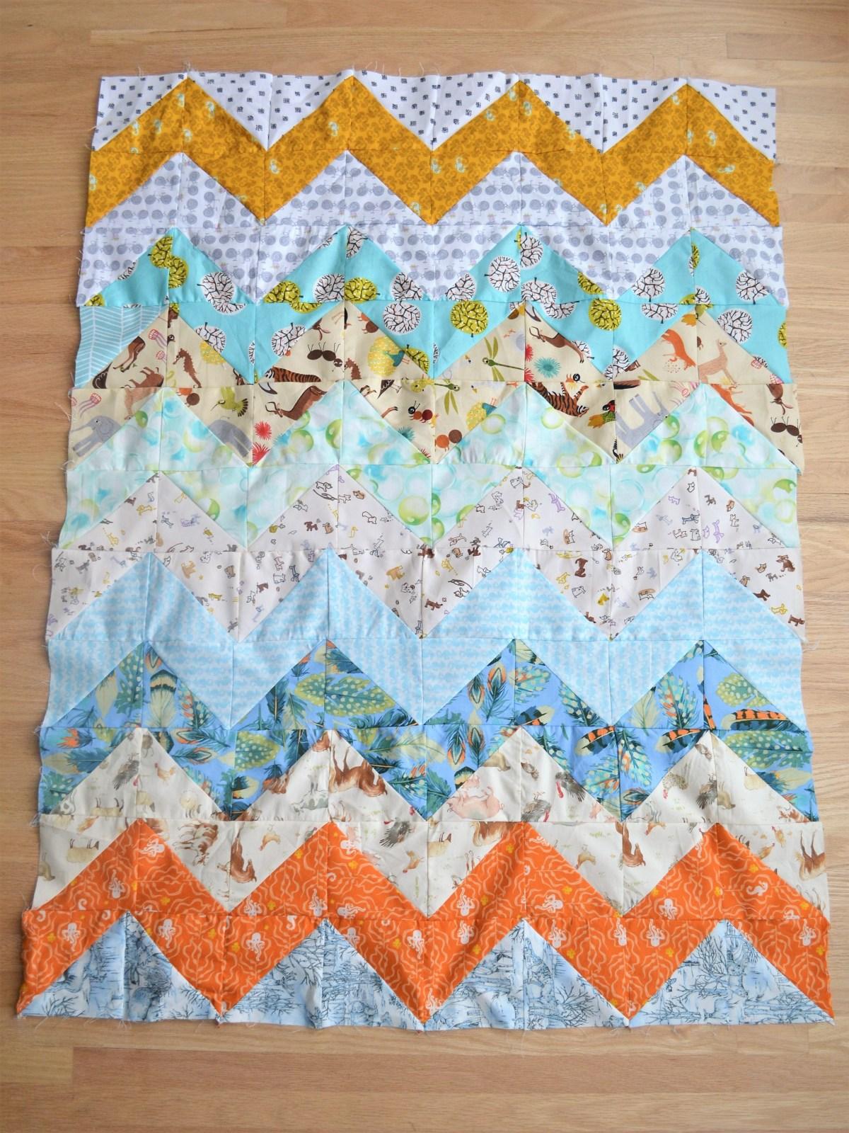 Chevron Quilt Pattern - Quilt Patterns for Beginners! - baby quilt