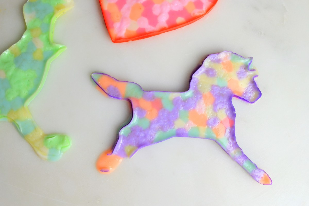 Kids Craft Idea: Cookie Cutter Melty Beads - melty beads unicorn
