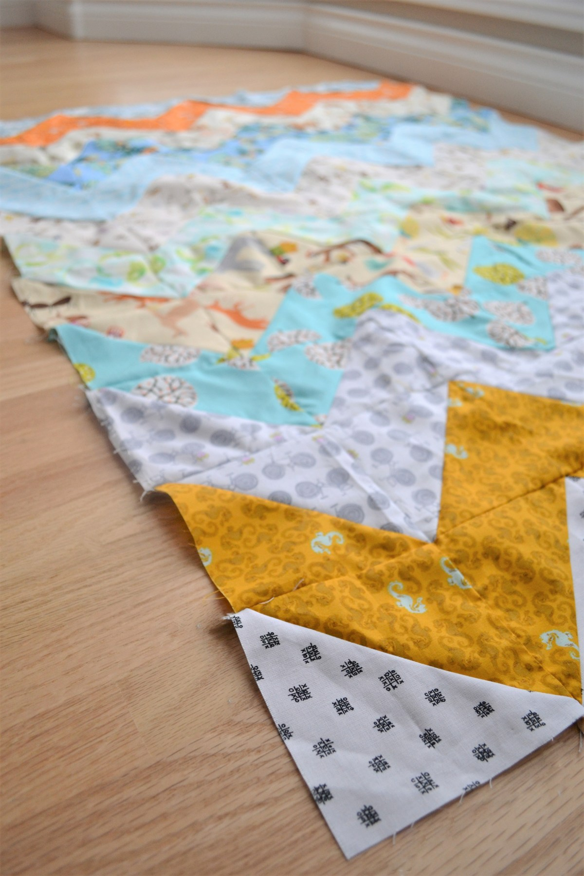 Chevron Quilt Pattern - Quilt Patterns for Beginners! -compleated