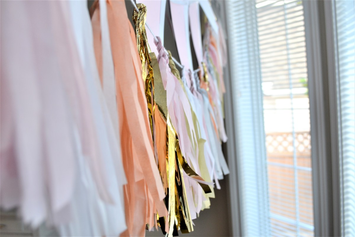 Baby Doll Party Theme - tassle garland
