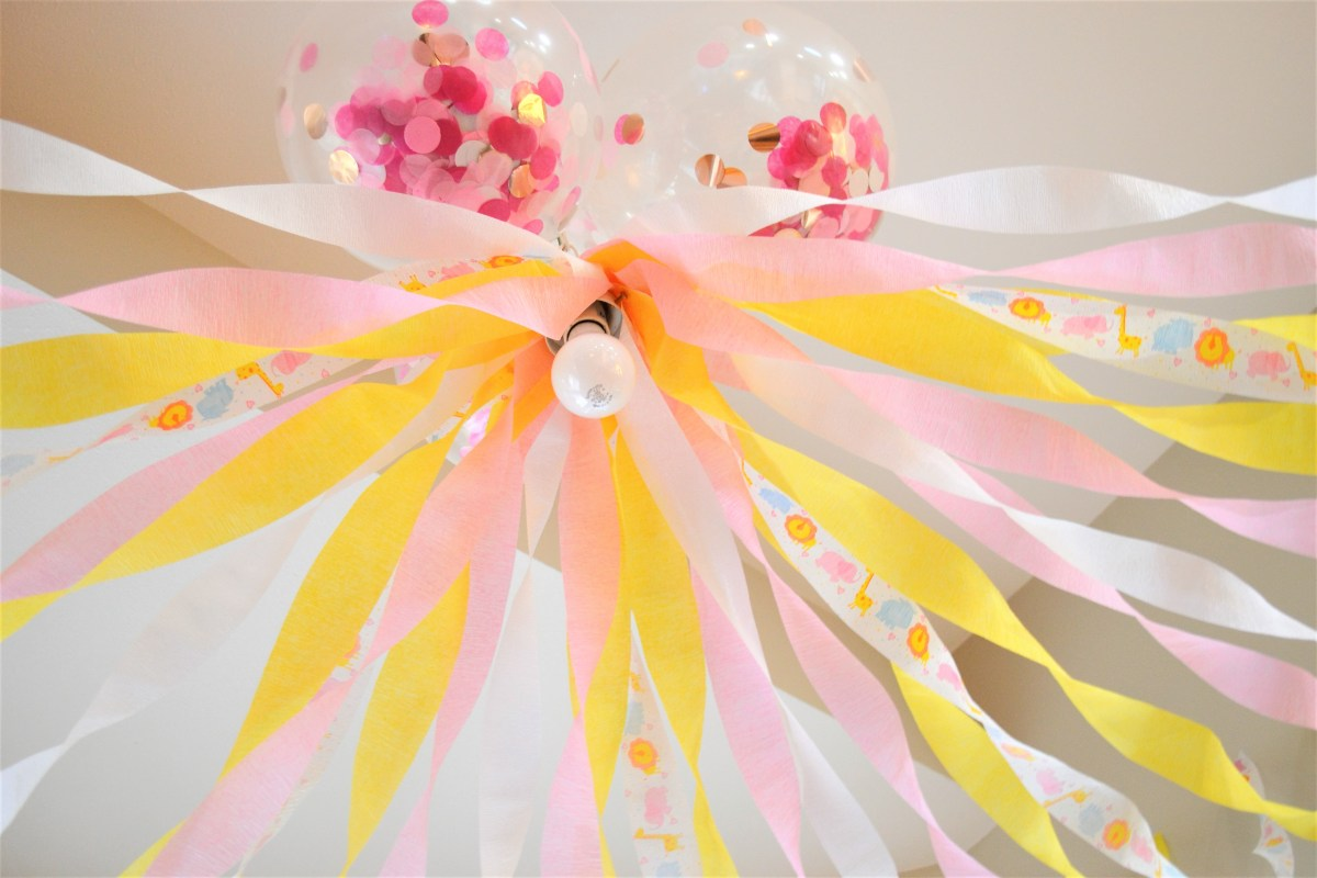 Baby Doll Party Theme - confetti balloons