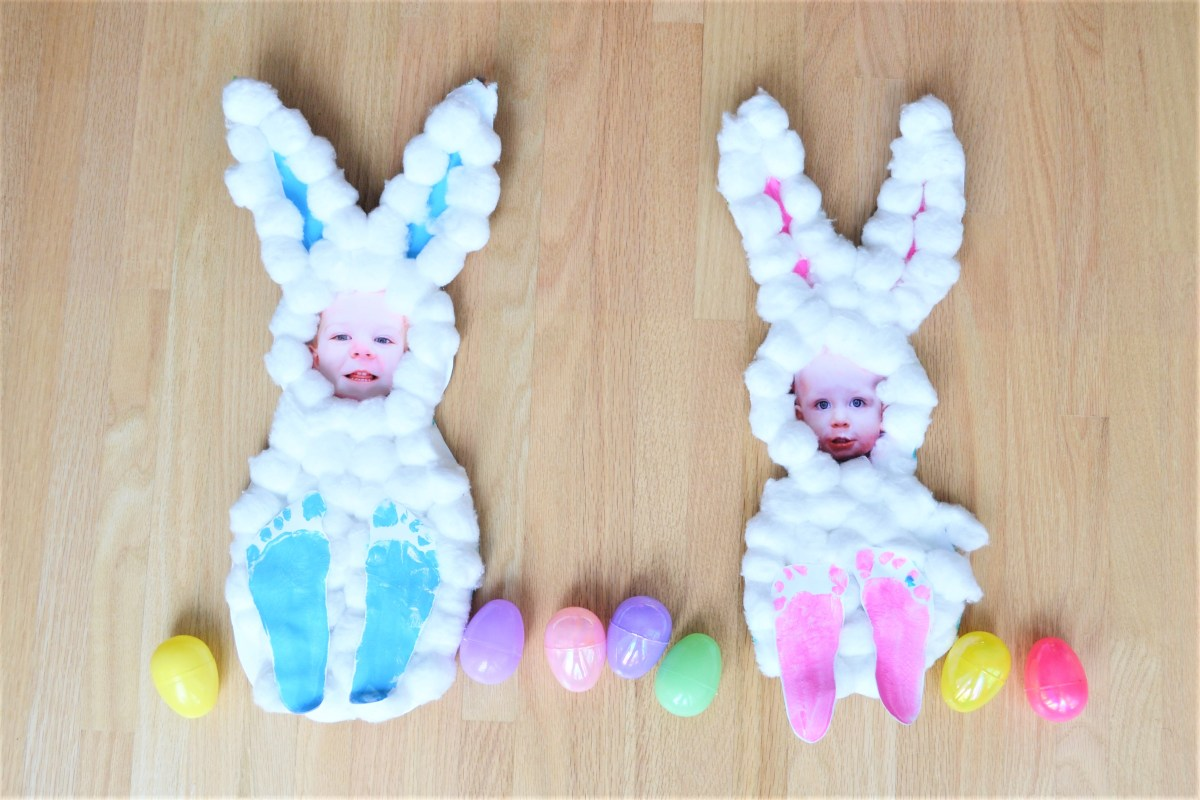 Easter Crafts for Kids Cotton Ball Bunnies   Making Things is ...