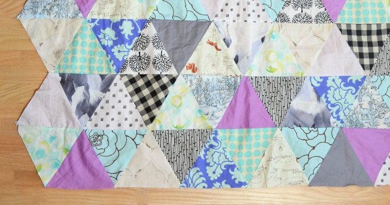 Baby Quilt Patterns: Triangle Modern Quilt Pattern!