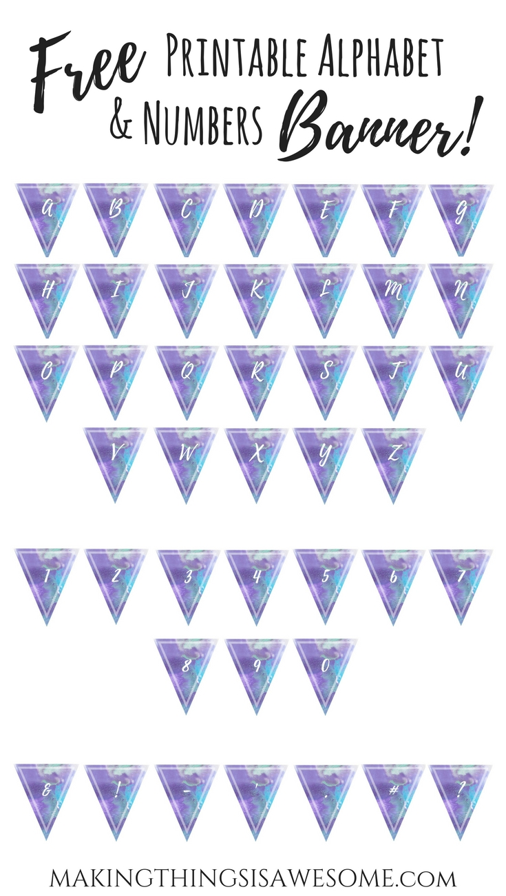 photo regarding Printable Alphabet Banner known as Cost-free Printable Alphabet Letters and Quantities: In direction of Crank out Your