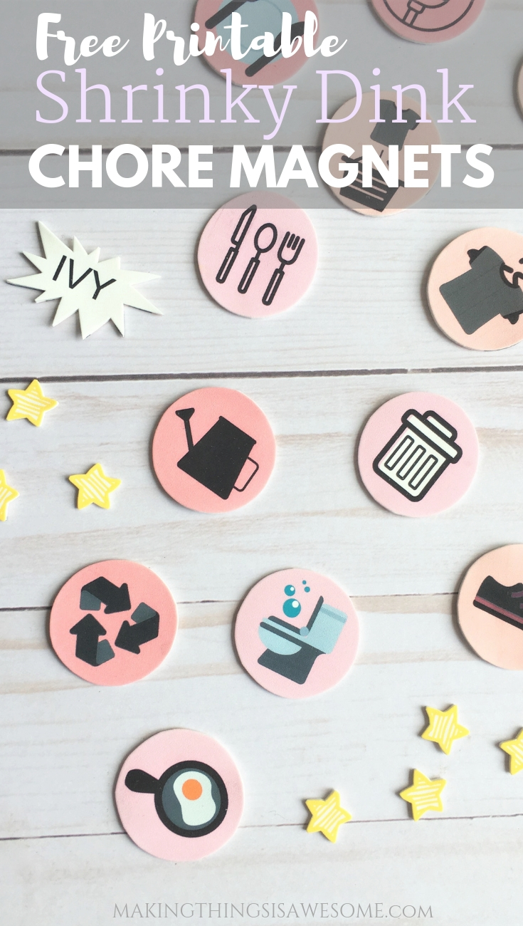 photograph relating to Shrinky Dinks Printable referred to as No cost Printable Chore Chart - Created With Magnetic Shrinky