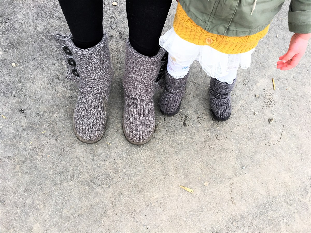 Davidson Orchard Adventure - mommy daughter boots