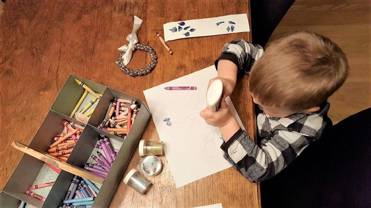 Write a Letter to Santa - glue