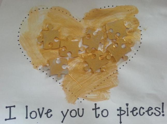 love you to pieces craft