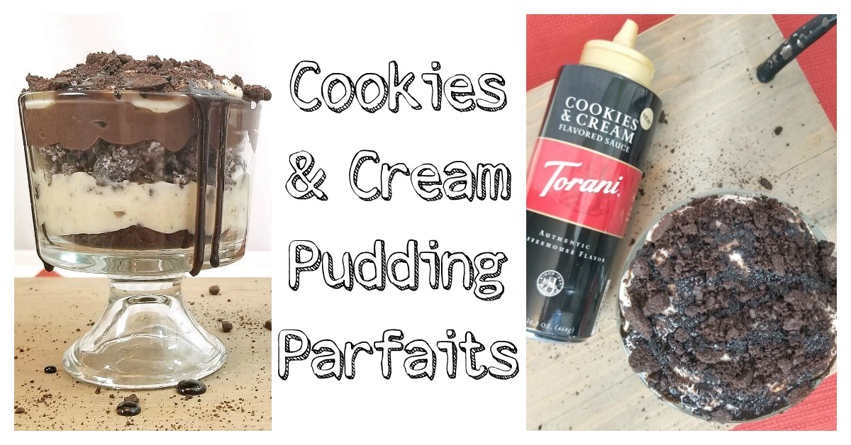 Cookies and cream pudding parfaits