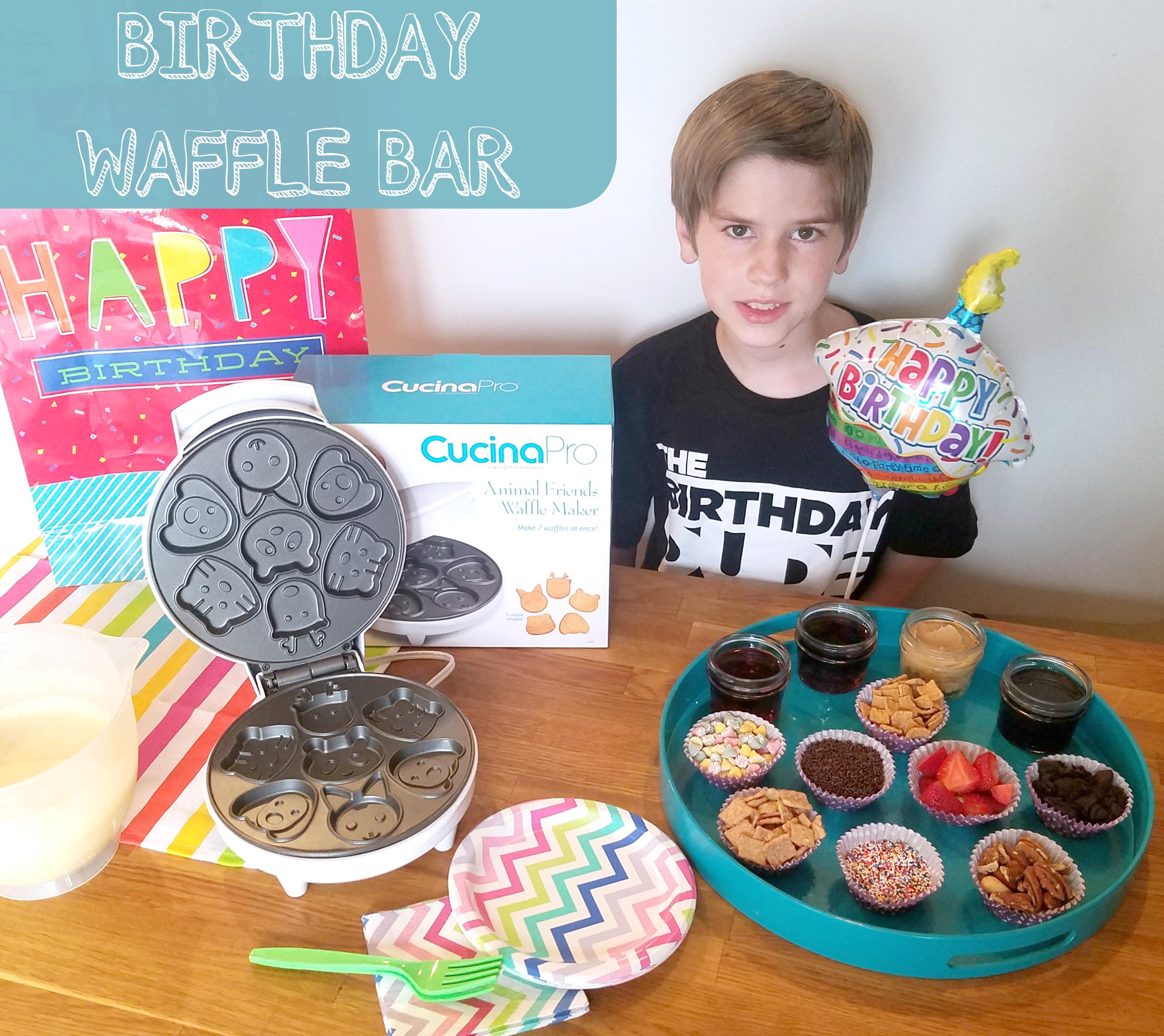 birthday waffle bar