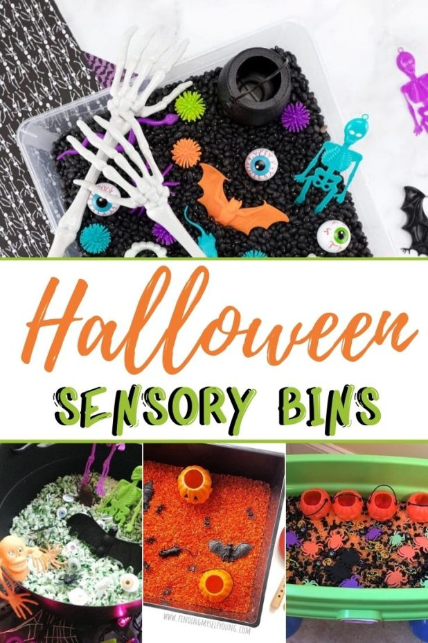 Halloween sensory bins for kids