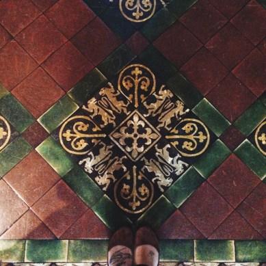 I loved the tiled floors here