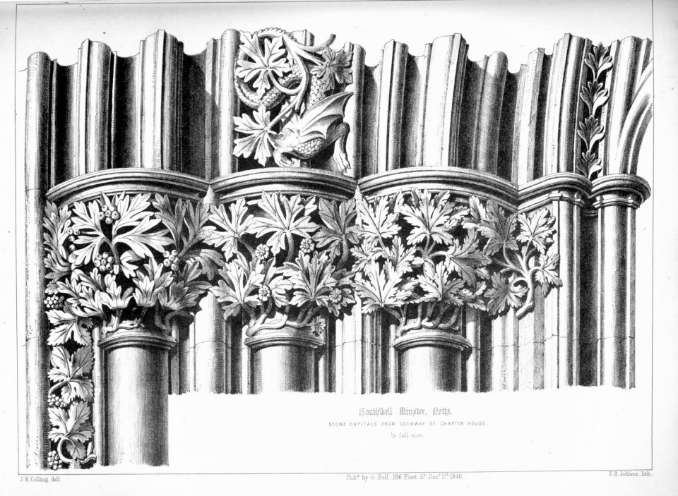 Colling 1848, Plate 22, Southwell Minster