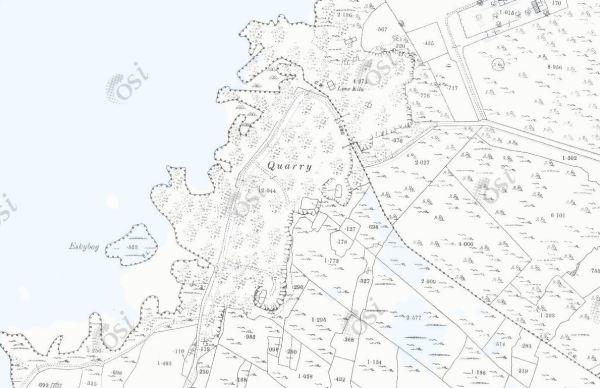Angliham & Menlough Quarries_Historic Map 25inch OSI Map (1888-1913)