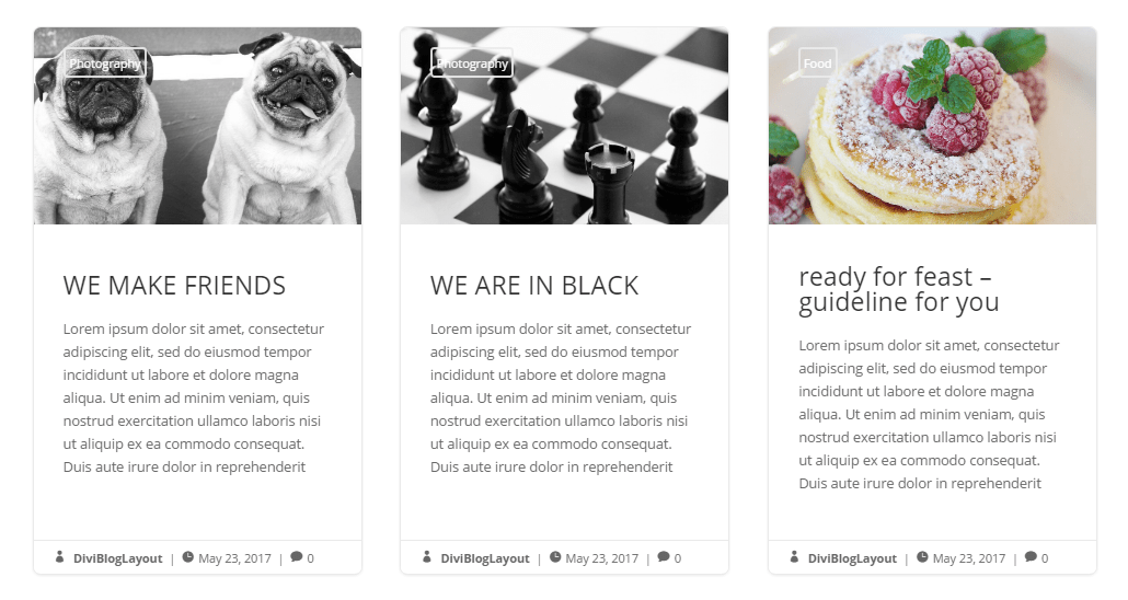 Divi Category Layout for Bloggers