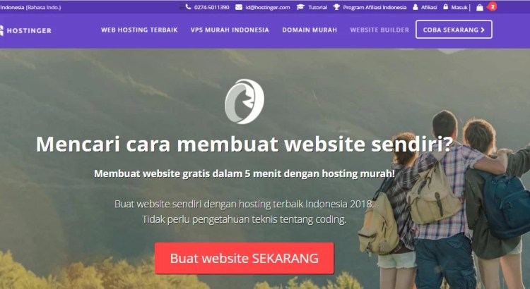 membuat website builder