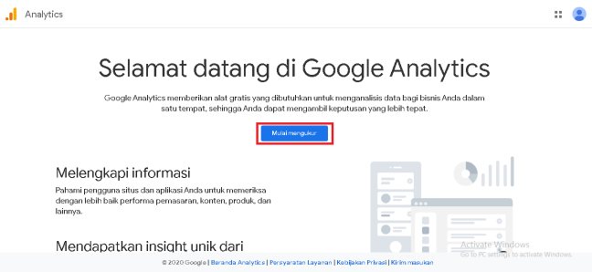 halaman google analytics