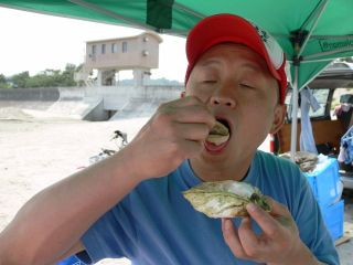 アウトドアオーブン&牡蠣