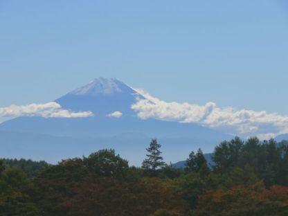 紅葉と冨士山