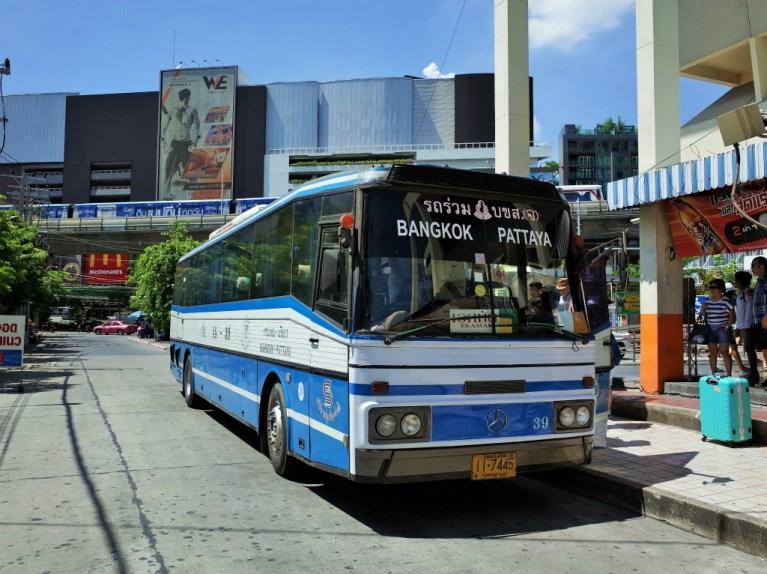 パタヤー→バンコクのバス