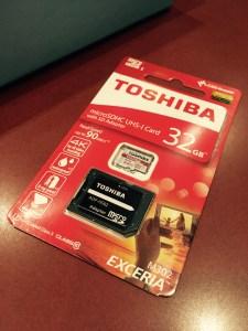 TOSHIBA microsdhc UHS-1 card 32GB